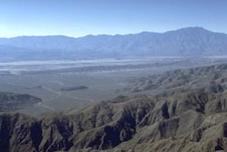 View of San Andreas fault from Keyes View in Joshua Tree NP