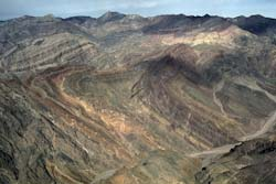 Aerial View of Titus Canyon Anticline