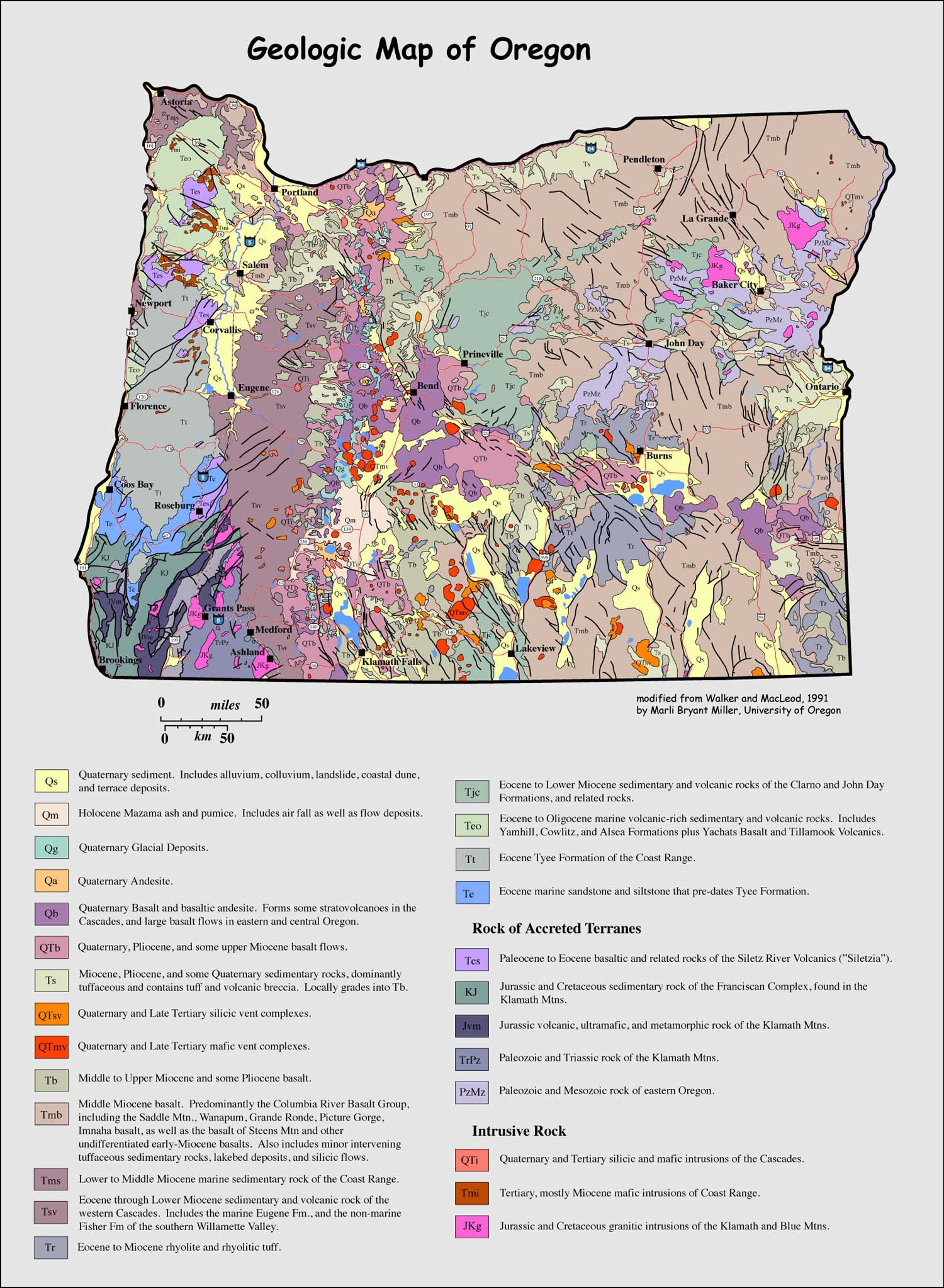 geologic map of Oregon